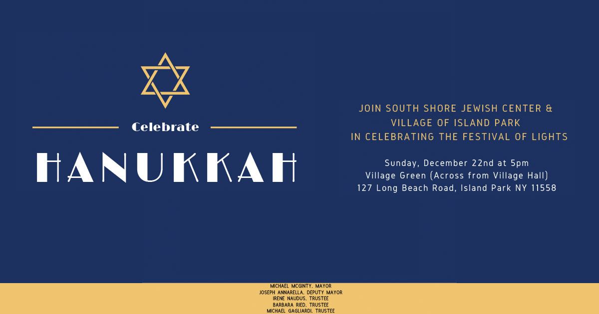 Hanukkah Celebration - December 22nd at 5pm