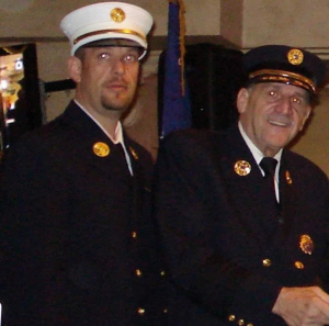 Former Island Park Fire Department Chiefs Nicholas Lettini and Samuel Lettini