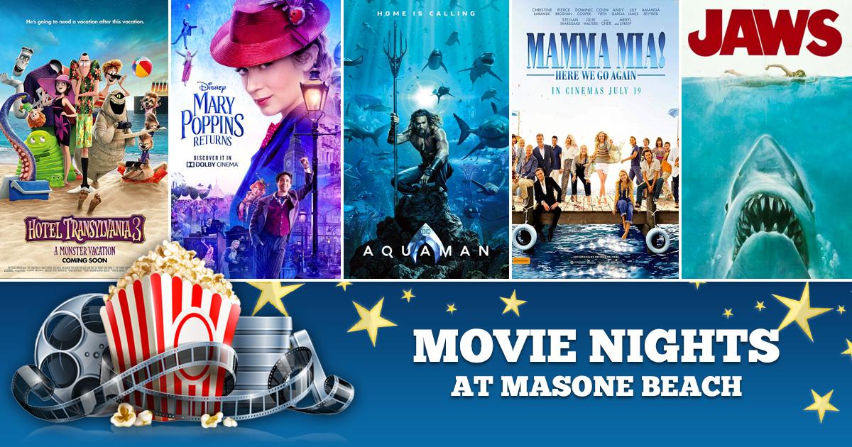 Summer 2019 Movie Nights at Masone Beach!