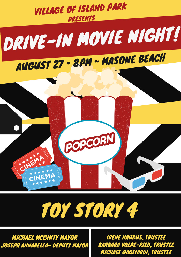 Drive-In Movie Night: Toy Story 4 on 8/27